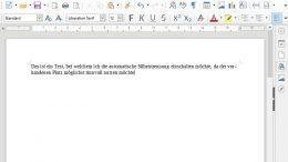 LibreOffice mit aktivierter Silbentrennung OpenOffice