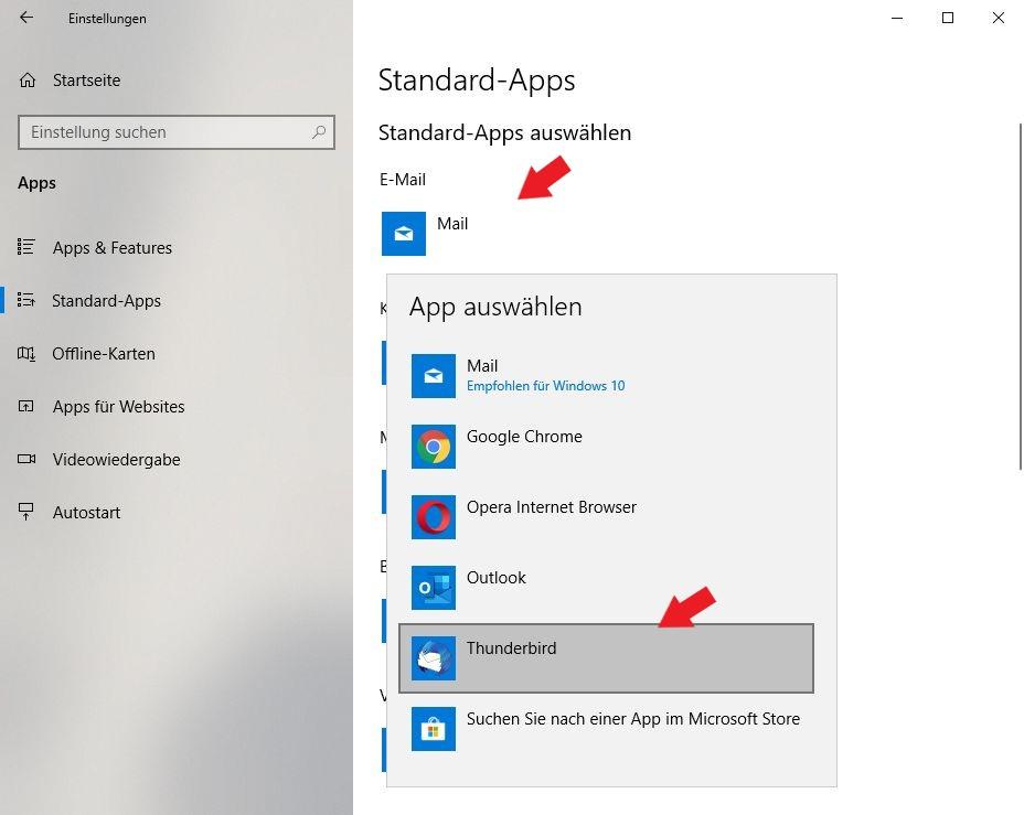 Windows 10: Ändert hier ganz einfach die Windows Programme  in die Standardprogramme eurer Wahl.