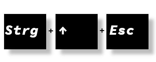 Windows 10: Die Tastenkombination zum öffnen des Task-Mangers