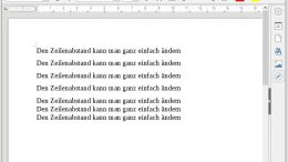 Zeilenabstand LibreOffice
