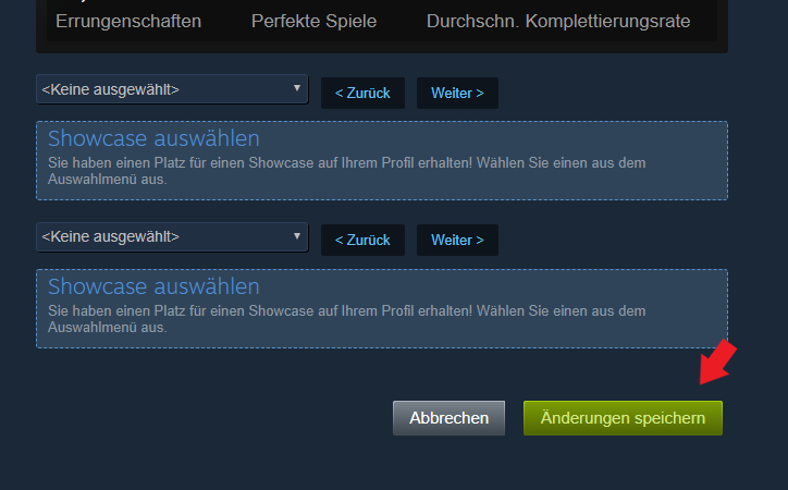 Valve Steam: Klickt unbedingt auf änderungen Speichern!