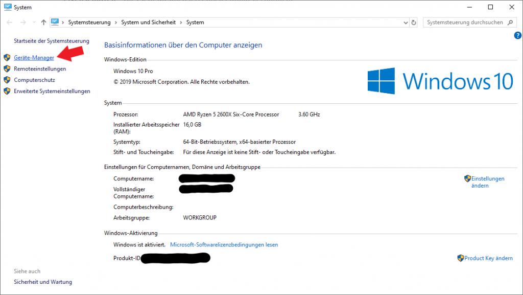 Windows 10: Systeminformationen wie Prozessor oder Arbeitsspeicher