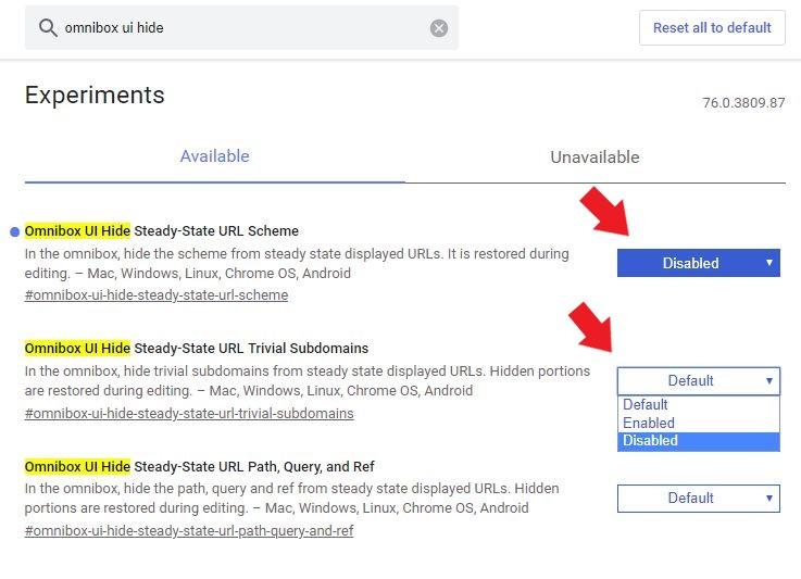 Google Chrome: Setzt die beiden Boxen ganz einfach auf disabled