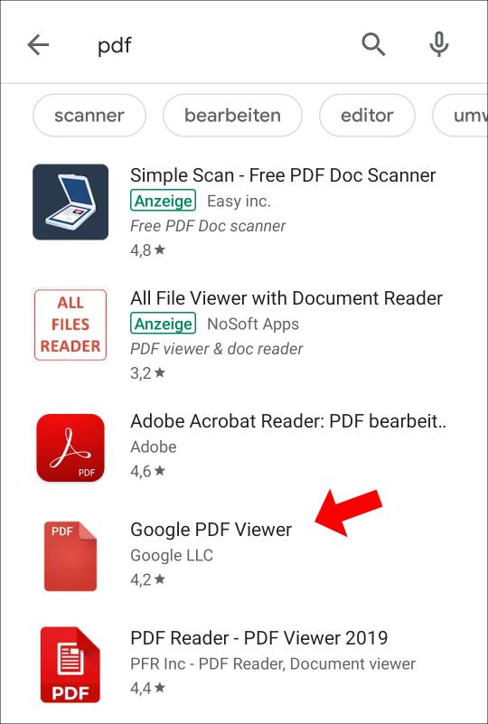 Wir empfehlen euch hier den Adobe Acrobat Reader oder den Google PDF Viewer