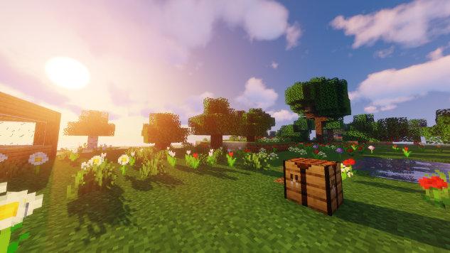 Minecraft mit installiertem Shader
