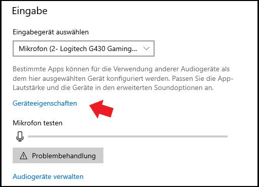 Windows 10: Hier könnt ihr eurer Mikrofon verwalten.