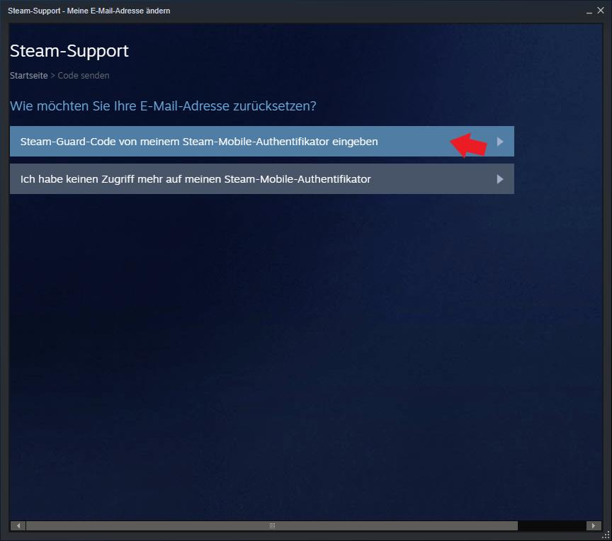Steam: Steam Guard Code eingeben