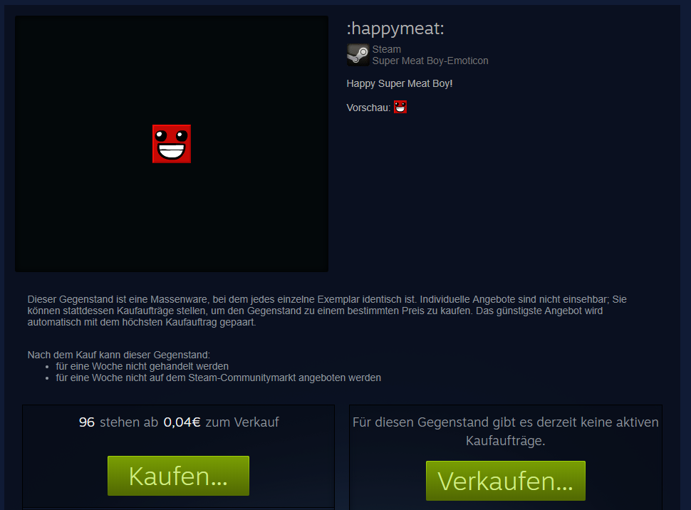 Valve Steam Super Meat Boy Emoticon