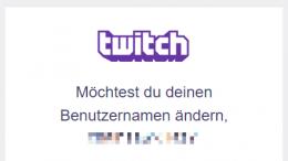 Twitch: Name ändern