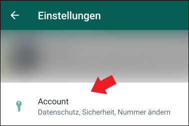 WhatsApp Account Einstellungen