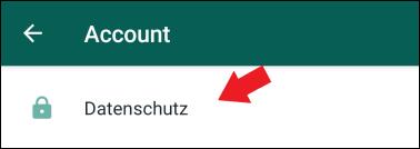 WhatsApp Account Datenschutz