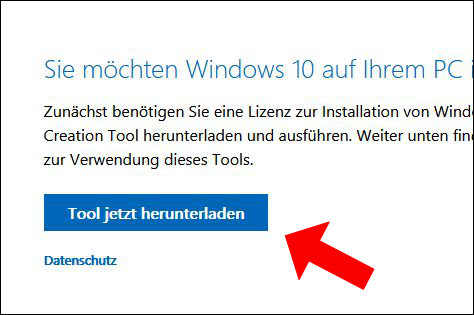 Windows 10 Media Creation Tool ISO herunterladen