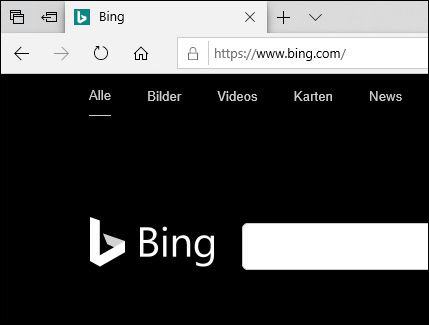Der Browser Microsoft Edge unter Windows 10