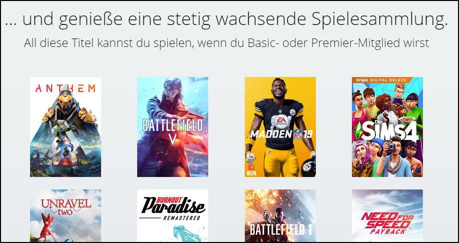 Origin Access Basic: Die Spielesammlung
