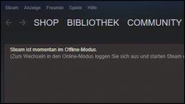 Valve Steam Offline Modus aktivieren offline spielen