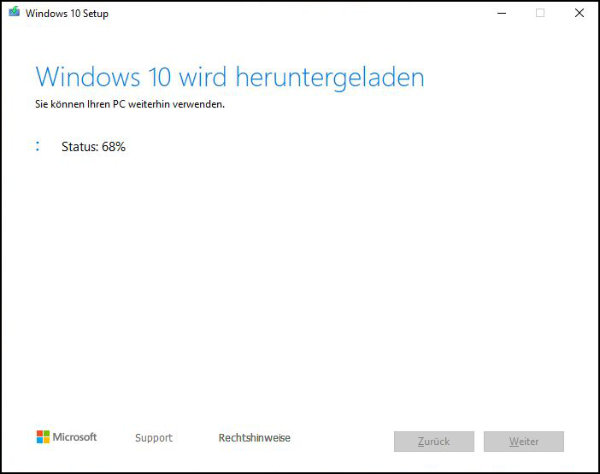 Windows 10: Euer Windows-System wird nun auf euren USB-Stick heruntergeladen.