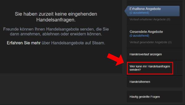 Valve Steam Erhaltene Handelsanfragen Trade Link