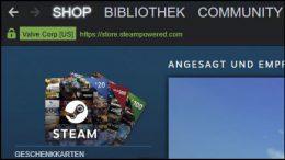 Steam Guthaben Geschenkkarten verschenken direkt online Supermarkt