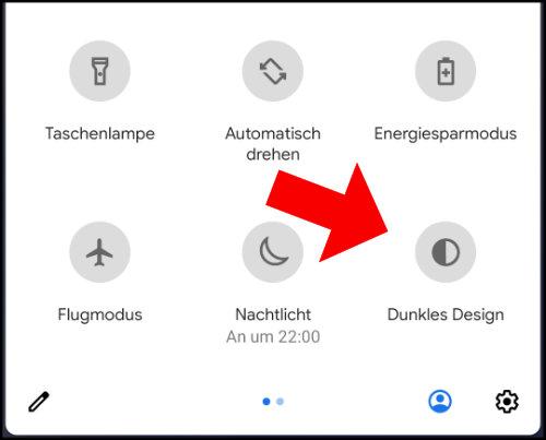 Android 10 Darkmode Menü Einstellungen aktivieren
