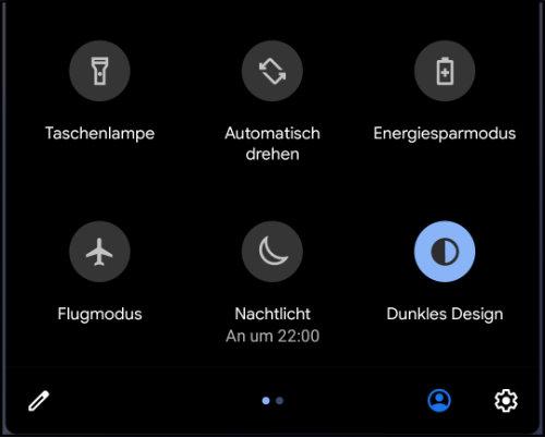 Android 10 Darkmode aktiviert