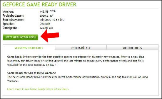 NVIDIA Geforce Game Ready Treiber intallieren updaten so gehts Anleitung