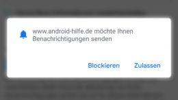 Android Werbung Chrome Benachrichtigungen ausschalten