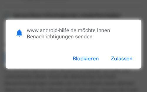 Android Benachrichtigungen Notifications abschalten Werbung