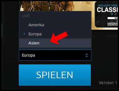 Battle.net Download Bug Region wechseln Asien Amerika