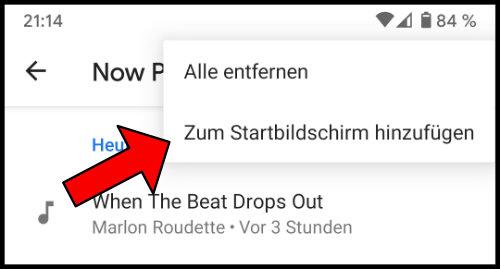 Google Pixel Now Playing Zum Startbildschirm hinzufügen Shortcut erstellen