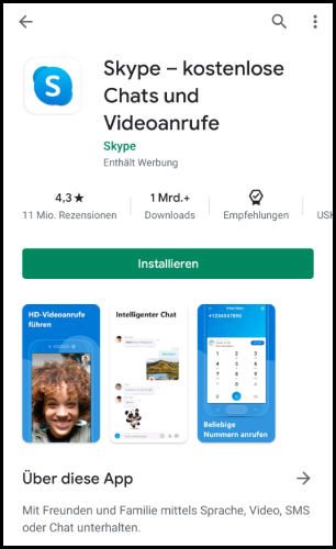 Skype Play Store App Store Download Android iOS WhatsApp Alternative
