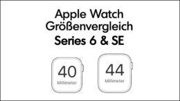 Apple Watch 40 oder 44mm Größenvergleich