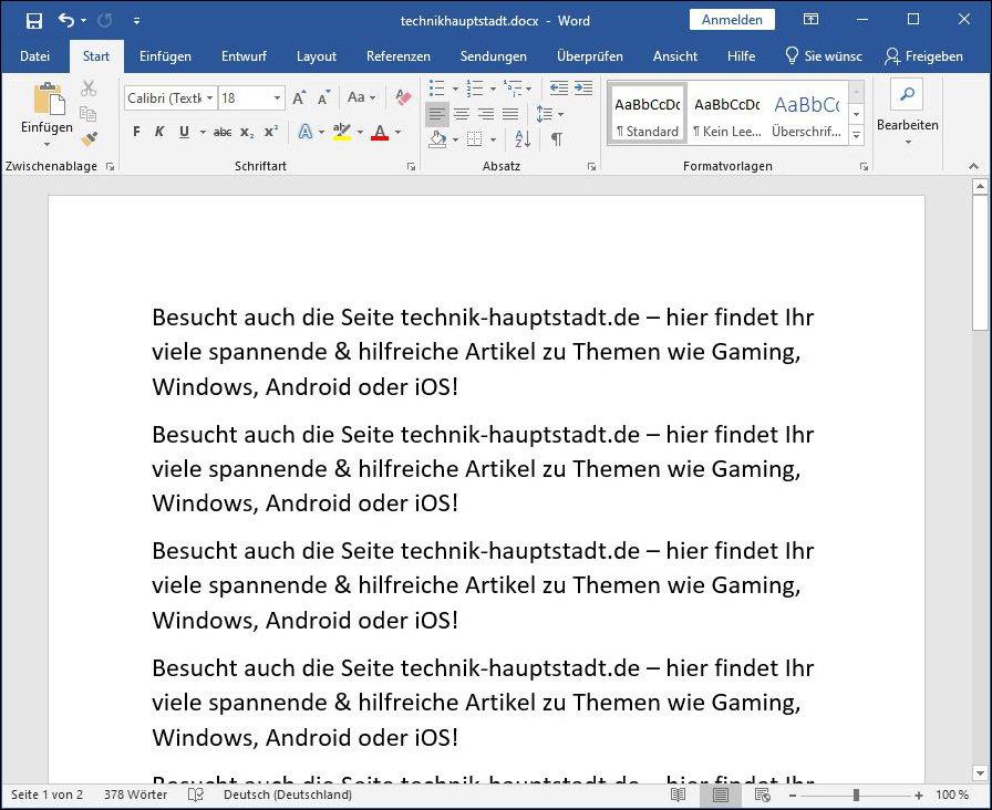 Word Dokument docx auf Kindle lesen