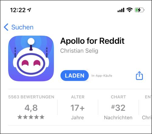 Boost for Reddit iPhone Alternative Apollo