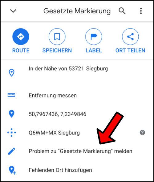 Google Maps Straße einzeichnen hinzufügen