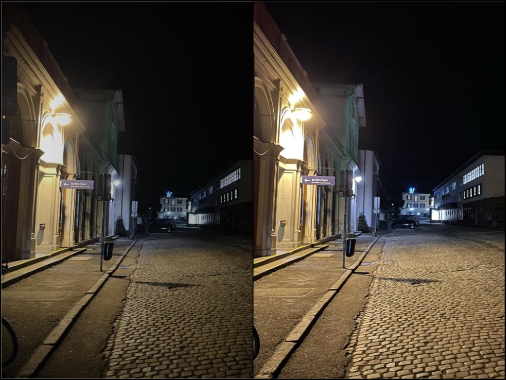 iPhone Nachtmodus Nachtfotografie Vergleich