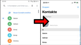 Google Android Kontakte auf iOS iPhone
