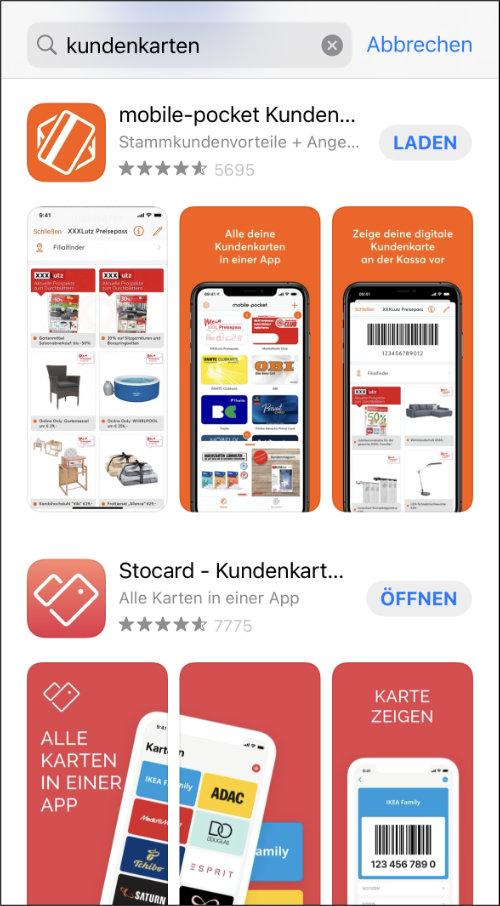 iPhone Wallet Kundenkarten speichern