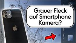 Handy Kamera Bild schwarzer Fleck