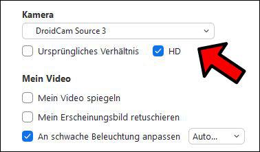 Zoom Handy als Webcam nutzen