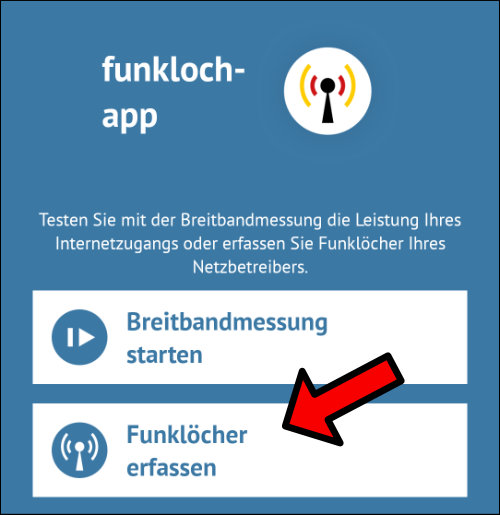 Funklöcher melden Telekom O2 Telefonica Vodafone
