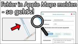 Apple Karten Fehler melden Anleitung