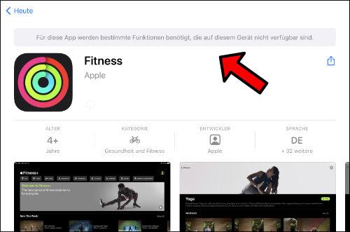 Apple iPad Fittness App