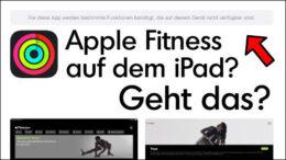 iPad Apple Fitness App
