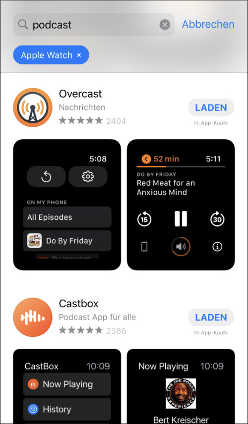 Apple Watch Podcast Apps