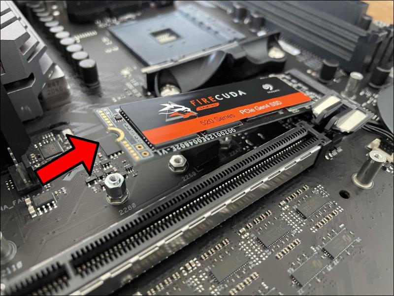 NVME SSD einsetzen Mainboard