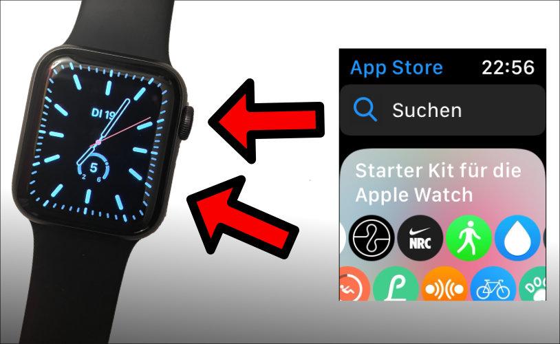 Apple Watch Screenshot machen Tastenkombination was drücken