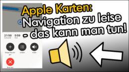 Apple iPhone Navigation zu leise lauter machen