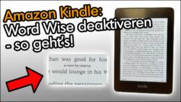 Amazon Kindle Word Wise deaktivieren ausblenden ausschalten Anleitung