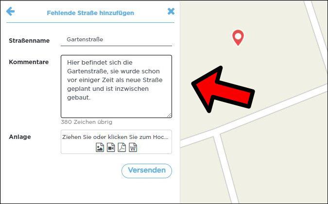 Hinzufügen Straße Apple Maps fehlend
