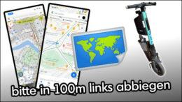 E-Scooter Navigation Karten